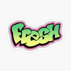 Stickers Cool, Tumblr Stickers, Printable Stickers, Laptop Stickers, Funny Stickers, Fresh Prince, Aesthetic Stickers, Lettering, Logos