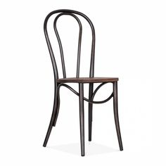 Rustic Thonet Style Metal Bistro Chair With Wood Seat | Cafe Chairs