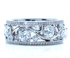 Diamond Wedding Bands, Right Hand Rings and Jewelry - Ascot Diamonds Looks Chic, Looks Style, Diamond Bands, Diamond Jewelry, Jewelry Accessories, Jewelry Design, Right Hand Rings, Schmuck Design, Diamond Are A Girls Best Friend