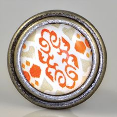Paris meets Bali in our French #pewter #knob with #Ikat...designed in Charleston for la vie eclectique! Size: 1.5″ diameter; Priced per unit,  sold in multiples of 2
