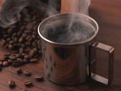 steaming cup of java....