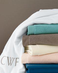 Garnet Hill Supreme Towels aqua haze & driftwood
