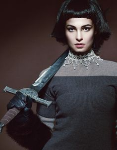 The Look: Joan of Arc - 'Aut Cum Scuto, Aut in Scuto' featuring Juliya Galimova photographed by Andrey & Lili. Sword Photography, Photography Women, Fashion Photography, Beauty Photography, Joan D Arc, Spartan Women, Character Inspiration, Style Inspiration, Character Design