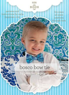 Bosco Bowtie for all the gentlemen in your life. Certainly the boys will make the most charming impression, well, at least until the super heroes come out!! We love the cherubic display only a bowtie can give, Imagine combined with a cape for the magic show or for the Master of ceremonies...