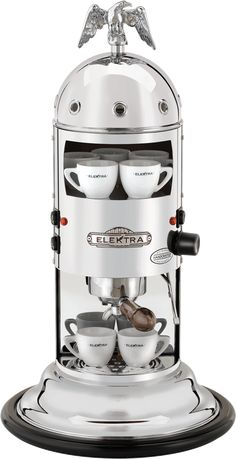 Vertical home espresso machine to use with ground coffee (we also provide an adapter kit for espresso machine). A real Italian espresso, contact Elektra now. Best Home Espresso Machine, Italian Espresso Machine, Coffee Machine Best, Home Coffee Machines, Espresso Machine Reviews, Cappuccino Machine, Espresso Maker, Espresso Coffee, Best Coffee