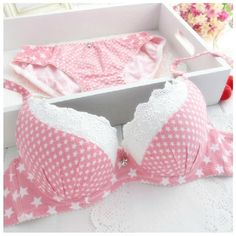 New 2014 fashion star printed young girl rustic 100% cotton bra set pink blue women fashion sweet push up underwear-in Bra & Brief Sets from Apparel & Accessories on Aliexpress.com | Alibaba Group