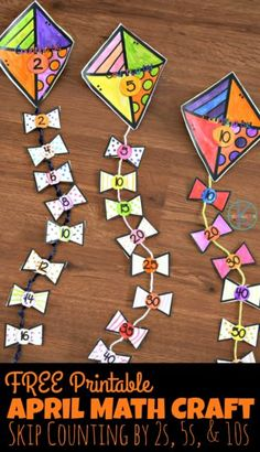 FREE Printable April Math Craft – this super cute spring math craft for kindergarten age kids helps kids practice skip counting by and – craft-ideas. Skip Counting Activities, Counting In 2s, Spring Activities, Skip Counting Worksheet, Kindergarten Age, Kindergarten Activities, Preschool Activities, Kindergarten Crafts Summer, Spring Craft Preschool