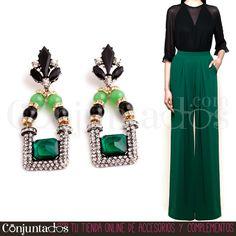 Blusa con transparencia, palazzo y nuestros preciosos pendientes Kate y ya estás lista para comerte el mundo ^_^ ★ Precio: 13,95 € en http://www.conjuntados.com/es/pendientes-vintage-con-strass-kate.html ★ #novedades #pendientes #earrings #joyitas #jewelry #bijoux #accesorios #complementos #bisutería #tendencias #moda #fashion #estilo #style #chic #GustosParaTodas #ParaTodosLosGustos
