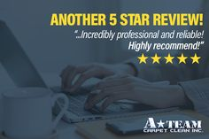 """Another 5 star review! """"A Team Carpet Clean was a wonderful selection. Scheduling was simple and quick. Juan did a fantastic job cleaning the carpet in a fast and thorough manner. He was incredibly professional and reliable! Highly recommend!"""" - Hannah Brueck #ateamcarpetclean #ateamlawton #lawtonok #waterrepair #carpetclean #oklahoma #mildewodor #testimonials Carpet Repair, Water Damage Repair, Grout Cleaner, How To Clean Carpet, A Team, Oklahoma, Cleaning Hacks, Star, Simple"""