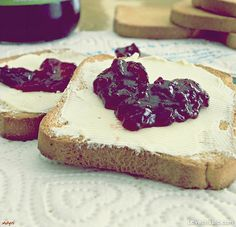 Heart shaped jam photography food sweet heart morning breakfast bread toast