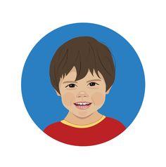 Retrato ilustrado · Um jeito especial para decorar e personalizar o quarto das crianças. Maysa Crowder