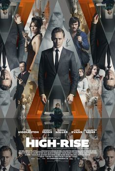 New movie poster for High-Rise, starring Tom Hiddleston and Sienna Miller