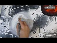 black and white abstract painting video lesson PetesOriginalArt.com