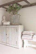 Jeanne d' Arc Living Magazine 2015 In by parisianfleamarket Shabby Cottage, Cottage Chic, Shabby Chic, White Cottage, White Farmhouse, Vibeke Design, Living Vintage, Living Magazine, Nordic Style
