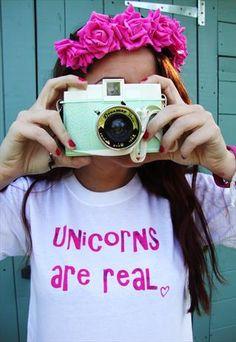 'Unicorns are real' Slogan T-Shirt from Emma Warren