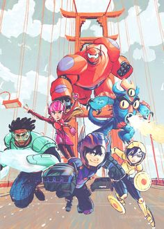 Los 6 gandes heroes de Big Hero 6