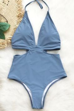 Cupshe City Of Sky Halter One-piece Swimsuit #beachoutfitswomen #swimwear #BachelorettePartyIdeas#beachwedding#bride#bridal