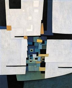 Gunther Gerzso ~ Ciudad Maya, 1958 (oil)