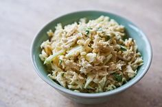 Celery Root Salad ~ Celery root salad recipe, also known as celery remoulade, with celery root, green apple, and a mayonnaise Dijon dressing. ~ SimplyRecipes.com