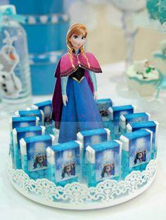 Anniversaire reine des neiges - Relooking boite de tic tac - cadeau