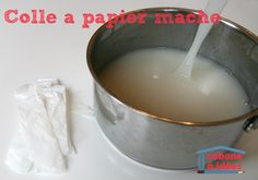 OK so you may need to translate this into your native language if you aren't able to suss this out Mich :)recette de colle à papier mâché recipe for papier mache glue Diy For Kids, Crafts For Kids, Paper Mache Sculpture, Tips & Tricks, Paperclay, Preschool Art, Minis, Craft Tutorials, Paper Crafts