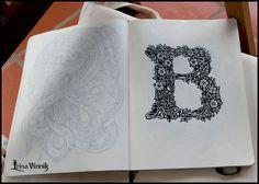 Sketchbook drawings by Irina Vinnik (RUS) Draw Tutorial, Photoshop Tutorial, Graffiti Lettering, Typography Letters, Hand Lettering, Sketchbook Drawings, Sketching, Beautiful Lettering, Cool Sketches
