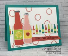 Bubble Over, Bottles & Bubbles, Stampin' Up!, #stampinBJ.com