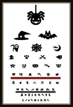 Halloween Eye Chart