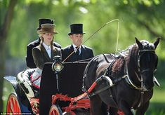 Lady Louise Windsor, daughter of Prince Edward and Sophie, the Countess of Wessex, remained composed as she took centre stage at the Royal Windsor Horse Show today.