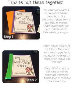 Writing Workshop Folders can adapt to third grade writing... Like the folder