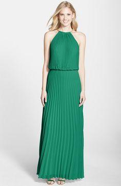 Xscape Pleated Chiffon Blouson Dress (Regular & Petite) available at #Nordstrom