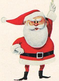 Santa from Rankin Bass Rudolph the Red-Nosed Reindeer TV Program