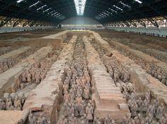 Chinese terra cotta warriors had real, and very carefully made, weapons