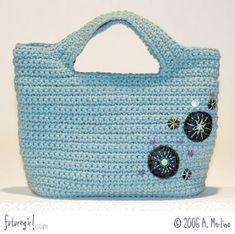Crochet Handbag Blue