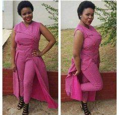 lovely Shweshwe Dresses 2017 plus 2018 lovely Shweshwe Dresses 2017 plus 2018 Summer Fashion Outfits, Fashion 2017, Trendy Fashion, Boho Fashion, Fashion Design, Traditional Wedding Attire, Traditional Dresses, African Dresses For Women, African Attire