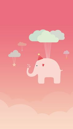 Cute Elephant. Tap to see more funny cartoon iPhone wallpapers, backgrounds and fondos! - @mobile9