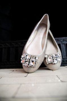 Vera Wang Fancy Silver Flats - Fabulous <3
