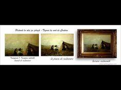 Șatra de țigani costionRestaurare tablou țigani în șatră  - de CONSTANTIN IONESCU COSTION