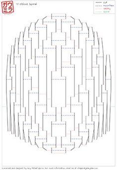 """DIY Template - """"Obloid Spiral"""" Kirigami Pop-up paper sculpture"""