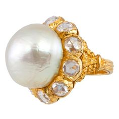 BUCCELLATI Ring  - 1stdibs.com Buccellati AND mammoth pearl!!!  LUSTINGING!! (or perhaps more accurately, coveting!!!!  oh, those deadly sins .  .  . will be the death of me! ;-)