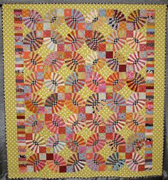 """""""Pypsy Kishes"""" quilt by Judi Tyrrell.  Inspired by Pickle Dish (Kaffe Fassett) and Gypsy Kisses (Kathy Doughty).   Austin Area Quilt Guild 2012 show."""
