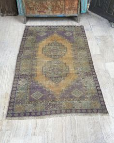 *Vintage Oushak Rug Turkish Rug Kilim Rug  *Color: Mute Orange , Light Purple  *Size: 3.7x6.4ft (112x194cm)  *Design: Vintage Turkish Traditional *Material: Wool  *Dye: Natural Dye  *Excellent, Clean And Ready To Use  *Shipping: FREE Shipping! (From Turkey with Fedex)  *Payment: Direct Checkout, Paypal  We offer %100 refund guarantee in case of any dissatisfaction. In this case buyer will pay the return shipping costs. Please feel free to contact with us. Well be glad to help you...  *Item…