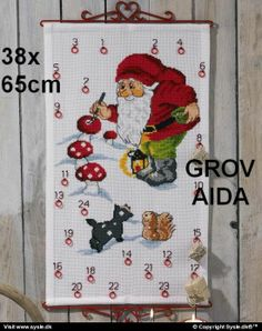 Painting Spots Advent from Permin counted cross stitch kit. Cross Stitch Samplers, Counted Cross Stitch Kits, Bead Loom Patterns, Cross Stitch Patterns, Diy Broderie, Advent Calenders, Rico Design, Labor, Cross Paintings