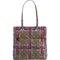 Women's Shoulder Bags - Vera Bradley Limited Collection Patchwork Plaid Shoulder Tote *** Continue to the product at the image link.