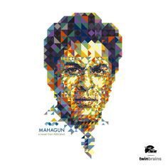 We created this portrait/Illustration of Shahrukh Khan, using triangle as a base unit for Mahagun a real estate developers to print it on a wall of their corporate office. King Of My Heart, King Of Hearts, Bollywood Posters, No One Loves Me, Portrait Illustration, Shahrukh Khan, Embedded Image Permalink, Wall Prints, Lion Sculpture