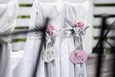 Ezüst és rózsaszín székszoknya - Silver and pink chaircover