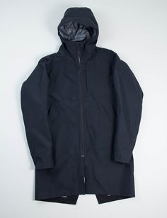 Arc'teryx Veilance Black Monitor LT Hooded Coat