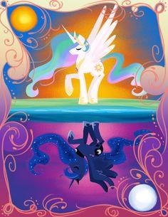 Sisters by bunnimation on DeviantArt My Little Pony Princess, Mlp My Little Pony, My Little Pony Friendship, Princesa Celestia, Celestia And Luna, My Little Pony Poster, My Little Pony Drawing, Rainbow Dash, Princess Twilight Sparkle