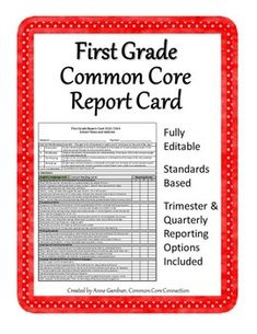Topics Data Report Card Resources