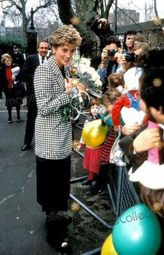 28 January 1993: Princess Diana visits the Homeless Families Centre in London..